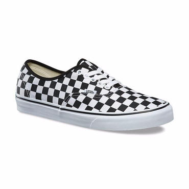 VANS CHECKERBOARD AUTHENTIC-BLACK/TRUE WHITE
