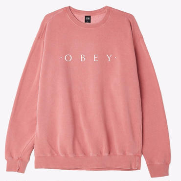OBEY Novel OBEY Basic Pigment Crew-Dusty Dark Rose
