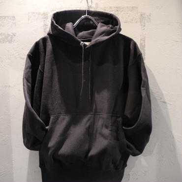 CHAMPION REVERSE WAVE PULLOVER HOODIE - BLACK