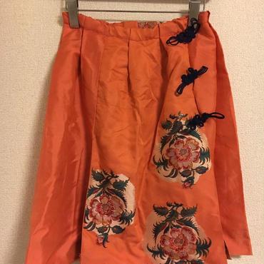 着物リメイクスカート(牡丹)