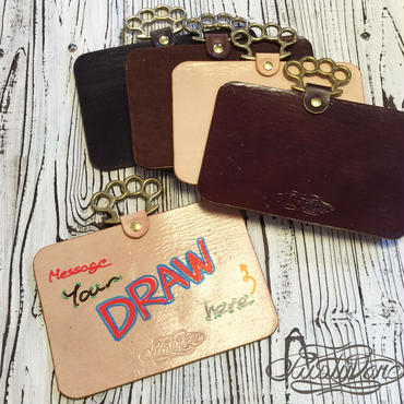 """DRY ERASER """"LEATHER"""" BOARD ヨコ型"""