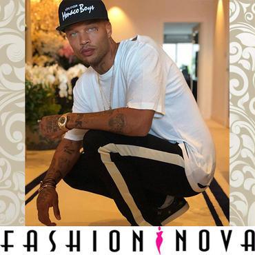 即納【Fashion Nova】サイドラインジョガーパンツ