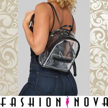 即納【Fashion Nova】クリアLEDライトバックパック