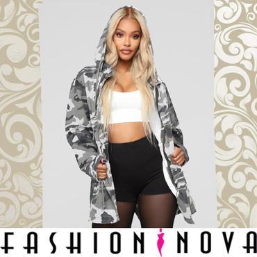 【Fashion Nova】2color カモフラージュプレイミリタリージャケット