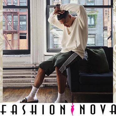 即納【Fashion Nova】サイドラインデザインショーツ