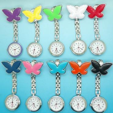 バタフライデザイン ナース時計 蝶々