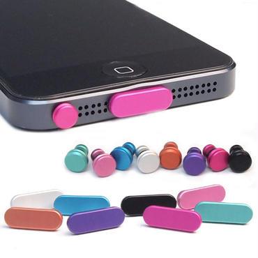 iPhone6 6plus 5s 5c 5 Lightningドックコネクタ キャップ & イヤホン ジャック セット