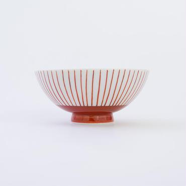 九谷焼 格子文様飯碗