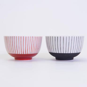 九谷焼 格子文様湯飲(2個組)