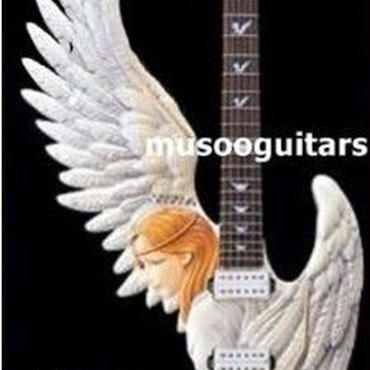 カスタムエレキギター 天使デザイン 手彫り マホガニー メイプル 熟練者向け 40インチ カエデ楓
