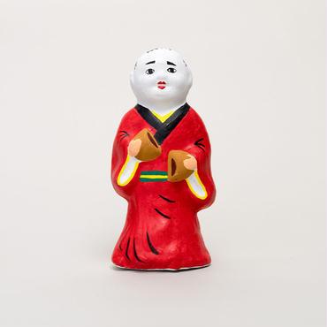 尾崎人形 饅頭割人形(大)赤
