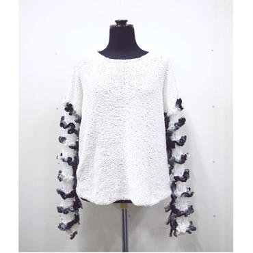 Frilled Lace Sleeves < white × white-D.green >