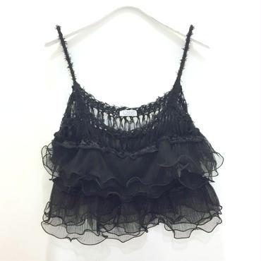 Ruffled Camisole < Black >