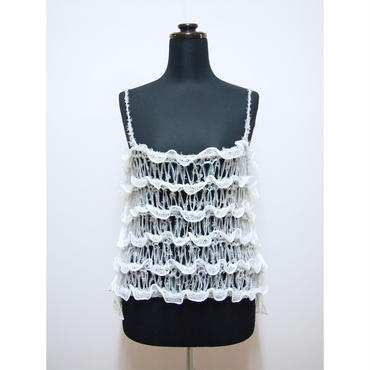 Frilled Lace Camisole < Gray >
