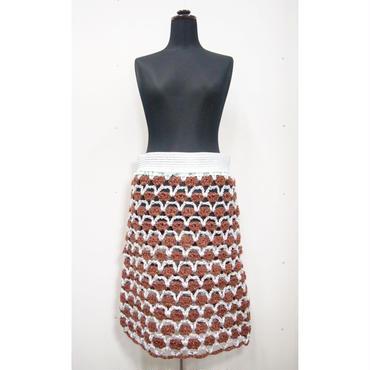 Crochet skirt < BROWN × SILVER >