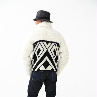 Geometric fur knit