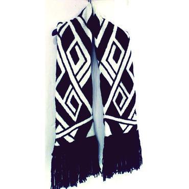Geometric fringe stole [voluminous short ver.]