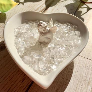 天使のハートプレートSさざれ水晶