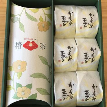 【カメリアセレクト】「かもめの玉子と椿茶」お菓子とお茶の詰め合わせギフト