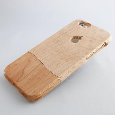 ウッドケース for iPhone 7 木肌 ナチュラル