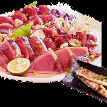 【3月企画】21年連続生鮮カツオ水揚げ日本一!気仙沼産・冷凍かつおたたき・ハラスセット *送料込み
