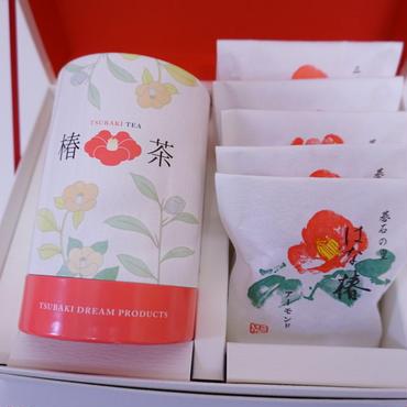 【カメリアセレクト】「はな椿と椿茶」お菓子とお茶の詰め合わせギフト