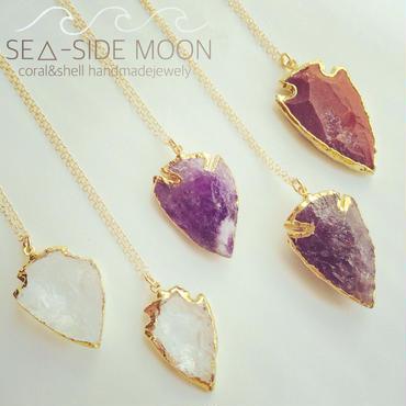 Crystal Quartz Arrowhead Necklace