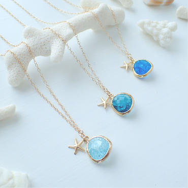 crash glass charm necklace