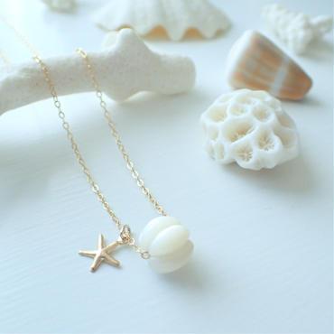 pumpkin shell beads necklace