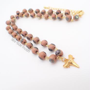 Wood×Abalone Shell Necklace