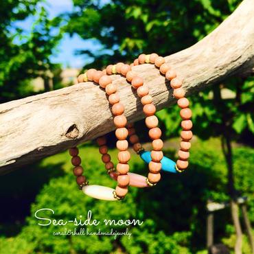 Shell&Woodbeads Bracelet