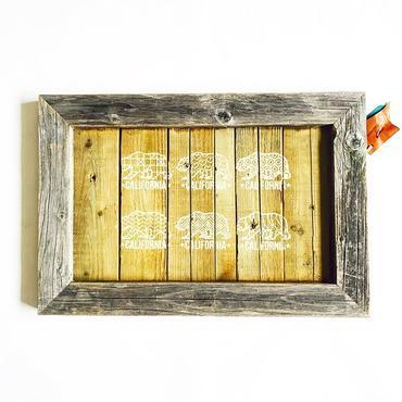 vintage wood board  [California Bear]