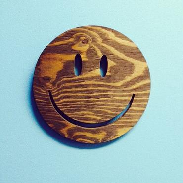 smile wood plate