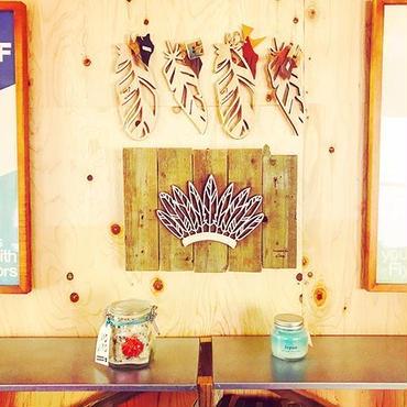 wood cutting board  【feather】
