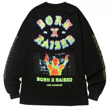 BORN X RAISED HEAT SEEKER L/S TEE 36501 BLACK