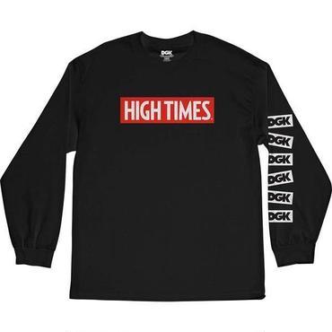 DGK x High Times Lock Up Long Sleeve T-Shirt BLACK