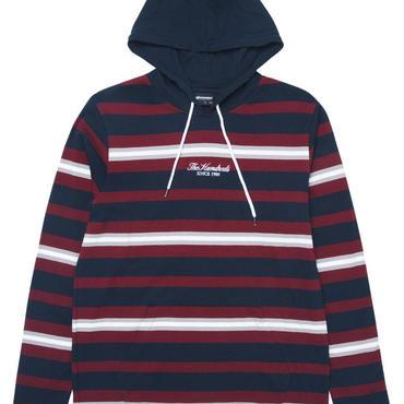 THE HUNDREDS Elmont L/S Hooded Shirt NAVY