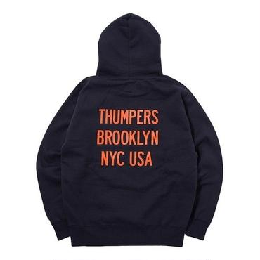 THUMPERS BROOKLYN NYC NYC PULL PARKA (NAVY)