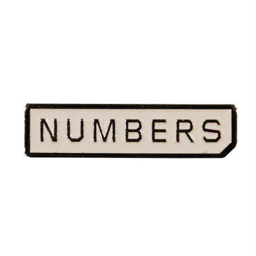 Numbers Edition MITERED LOGO-ENAMEL PIN 18916