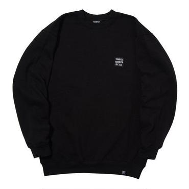 THUMPERS BROOKLYN NYC USA EMBROIDERY LOGO SWEAT CREW (BLACK)