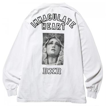 BORN X RAISED IMMACULATE HEART L/S TEE 39503 WHITE