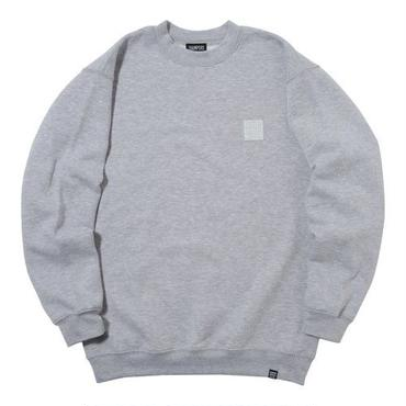THUMPERS BROOKLYN NYC USA EMBROIDERY LOGO SWEAT CREW (GREY)