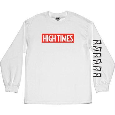 DGK x High Times Lock Up Long Sleeve T-Shirt WHITE