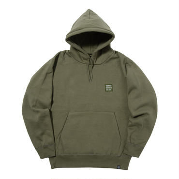 THUMPERS BROOKLYN NYC USA BIG EMBROIDERY LOGO PULL PARKA (OLIVE)