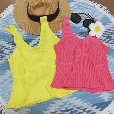 【ladies】rib knit tops