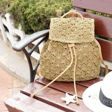 【ladies】straw backpack