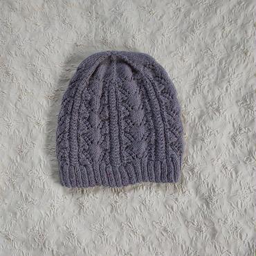 春のニット帽(グレー)