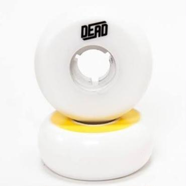 DEAD Wheels TeamWhite  YELLOW RING 58mm95a 4個セット