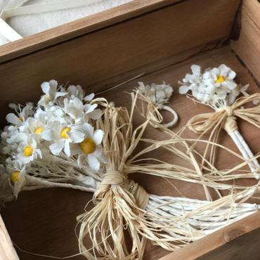 【布花】マトリカリアの花指輪物語 BOX入り ¥37,800送料無料