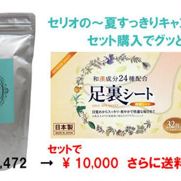 ☆数量限定・夏すっきりキャンペーン☆ ボーネラボーテ徳用 & 足裏シートのおトクなセット